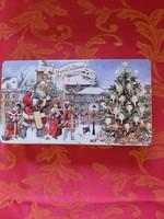Karácsonyi csokoládés fém doboz