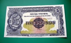 5 Font - Brit katonai bankjegy - 2 nd series - UNC - 1950