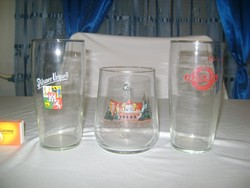 Retro feliratos  sörös korsó, pohár - három darab - gyűjtőknek