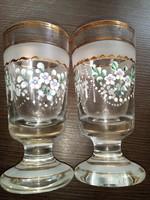 Zománc festett talpas pohár párban