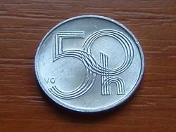 """CSEHORSZÁG 50 HALERU 2001 ALU. koronás """"b"""" (m Jablonec nad Nisou, Czech)"""