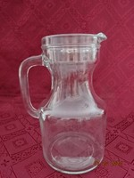 Olasz literes üveg kancsó, magassága 20 cm.