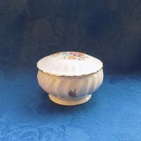 Régi GDR porcelán virágmintás cukortartó (14/d)