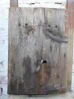 Antik hatalmas kovácsoltvas pincezár, présház-zár, zárszerkezet