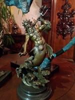 Neptunus mitológiai bronz szobor