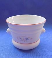 Régi oroszlánfejes porcelán virág cserép (24/d)