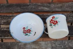 Zománcos bögre, tányér