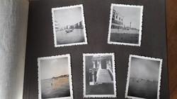 Régi fotóalbum 1930-as évekből,olaszországi Velence fotókkal