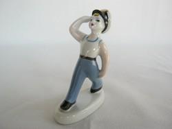 Orosz porcelán matróz fiú