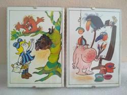 Retró Pom-Pom képeslap keretben