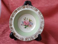 Rózsás angol porcelán tál