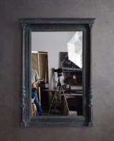 Patinás, nagyméretű tükör dekorítív kivitelben