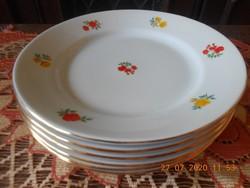 Zsolnay rózsa mintás lapos tányérok 6 db