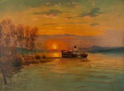 Ádler Mór (1826-1902): Baross (Kelén) gőzhajó.