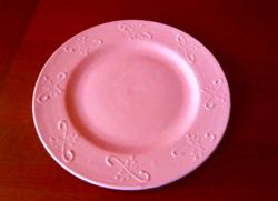 Rózsaszínű mázas 33 cm-s  Sárospataki  kerámia tál