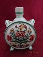 Zsolnay porcelán, antik, pajzspecsétes kulacs. Átmérője 8 cm.
