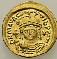 Bizánci Arany Mauricius Tiberius, 582-602. Solidus Sear: 481.