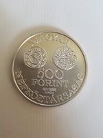 Ezüst 500 Ft-os Szent István