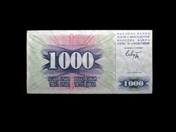 1000 DINARA - BOSZNIA HERCEGOVINA - 1992