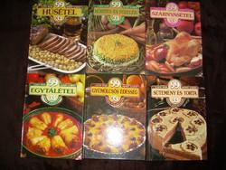6 db Lajos Mari Hemző Károly szakácskönyv, 80-as évekből