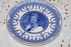 Angol dísztányér Erzsébet királynő