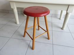 Régi retro kis fa szék ülőke