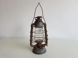 Vintage régi viharlámpa Szikra 5 petróleum lámpa spirituszos lámpa