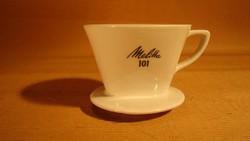 Régi Melitta 101 porcelán kávéfilter  4 lyukú