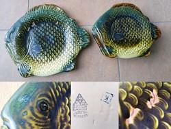 Gránit hal alakú tányér és egy kínáló tál