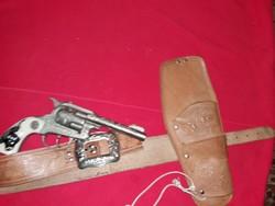 Régi 1960-s évek eredeti USA Colt Texan jr. és eredeti bőr holster BONANZA csodás állapotban