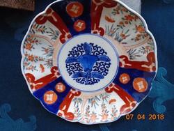 19.sz.Daoguang (1782-1820) császár korabeli kínai dísztál Imari mintával 20,5x3,5 cm