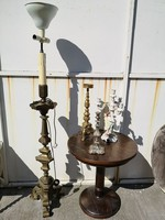 175 cm. réz állólámpa