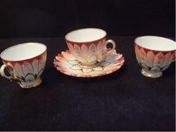 E25 U1 Sevres antik múzeális szecessziós lótuszmintás 4 db-os mokka kávé vagy csokis ritkaság eladó