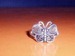 Régi PILLANGÓ mint.Tibeti ezüst gyűrű 8-as