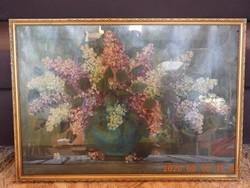 Iklódy Ferenc festmény, virágcsendélet, csendélet