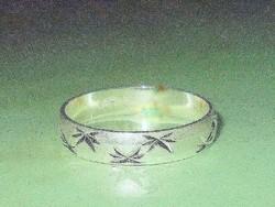 Vésett mint. 925 ezüst uniszex Karikagyűrű 8-as