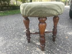Szék, puff antik ónémet reneszánsz kárpitozott ülőrész! Ülőke.