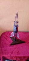 Világító űrhajó / rakéta asztali lámpa / asztaldísz.-