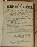 CORPUS JURIS HUNGARICI TOM.II. - BUDA , 1779 - RÉZMETSZETEKKEL ILLUSZTRÁLT JOGI KÖNYV