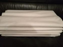 Régi, de új fehér pamutvászon anyag 16,5 méter + lepedő