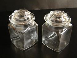 Nagyon szép szecessziós fedeles üvegek 2 db