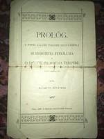 Prológ. A pápai állami polgári leányiskola 25 éves fennállása és új épület felavatás ünnepére! 1900!