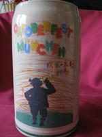 Gyűjtői szignált retro, vintage Oktoberfest 1983-as korsó