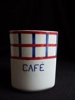 Antik francia fajansz fűszertartó  - Café (kávé)