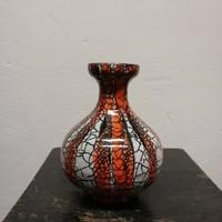 Gorka stúdió váza. Kézzel festett narancs színű máz.Ritka!  F-24
