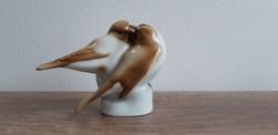 Zsolnay porcelán cinke pár madár