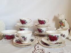 20 rèszes Royal Vale csontporcelàn teàs kèszlet