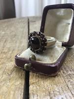 Antik gránát köves réz gyűrű