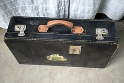 Retro bőr koffer , bőrönd 60 x 38 x 14,5 cm