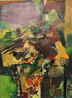 Kéri László (1949) Műtermi csendélet c. Képcsarnokos festménye 80x60 cm EREDETI GARANCIÁVAL !